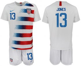 Wholesale Cheap USA #13 Jones Home Soccer Country Jersey