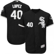 Wholesale Cheap White Sox #40 Reynaldo Lopez Black Flexbase Authentic Collection Stitched MLB Jersey
