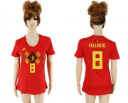 Wholesale Cheap Women's Belgium #8 Fellaini Red Home Soccer Country Jersey