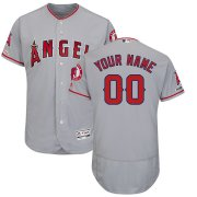 Wholesale Cheap Los Angeles Angels Majestic Road Flex Base Authentic Collection Custom Jersey Gray