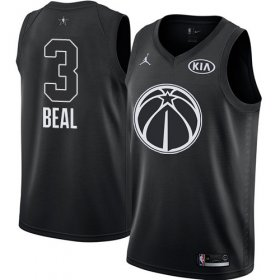 Wholesale Cheap Nike Wizards #3 Bradley Beal Black NBA Jordan Swingman 2018 All-Star Game Jersey