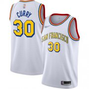 Wholesale Cheap Warriors #30 Stephen Curry White Basketball Swingman Hardwood San Francisco Classic Edition Jersey