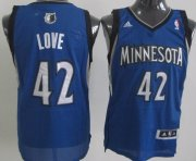 Wholesale Cheap Minnesota Timberwolves #42 Kevin Love Blue Swingman Jersey