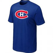 Wholesale Cheap Montreal Canadiens Big & Tall Logo Blue NHL T-Shirt