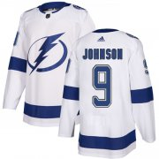 Wholesale Cheap Adidas Lightning #9 Tyler Johnson White Road Authentic Stitched Youth NHL Jersey