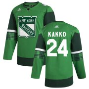 Wholesale Cheap New York Rangers #24 Kaapo Kakko Men's Adidas 2020 St. Patrick's Day Stitched NHL Jersey Green.jpg.jpg