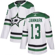 Cheap Adidas Stars #13 Mattias Janmark White Road Authentic Stitched NHL Jersey