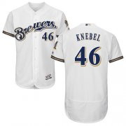Wholesale Cheap Brewers #46 Corey Knebel White Flexbase Authentic Collection Stitched MLB Jersey