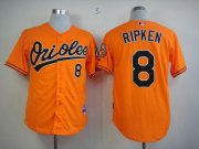 Wholesale Orioles #8 Cal Ripken Orange Cool Base Stitched Baseball Jersey