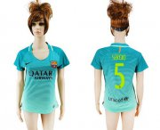 Wholesale Cheap Women's Barcelona #5 Sergio Sec Away Soccer Club Jersey