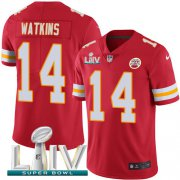 Wholesale Cheap Nike Chiefs #14 Sammy Watkins Red Super Bowl LIV 2020 Team Color Youth Stitched NFL Vapor Untouchable Limited Jersey
