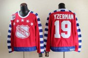 Wholesale Cheap Red Wings #19 Steve Yzerman Red All Star CCM Throwback 75TH Stitched NHL Jersey