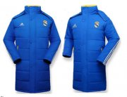Wholesale Cheap Real Madrid Blue Soccer Cotton Jackets