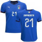 Wholesale Cheap Italy #21 Zappacosta Home Kid Soccer Country Jersey