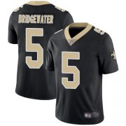 Wholesale Cheap Nike Saints #5 Teddy Bridgewater Black Team Color Men's Stitched NFL Vapor Untouchable Limited Jersey