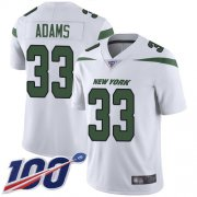 Wholesale Cheap Nike Jets #33 Jamal Adams White Youth Stitched NFL 100th Season Vapor Limited Jersey