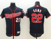 Wholesale Twins #22 Miguel Sano Navy Blue Flexbase Authentic Collection Stitched Baseball Jersey
