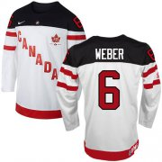 Wholesale Cheap Olympic CA. #6 Shea Weber White 100th Anniversary Stitched NHL Jersey