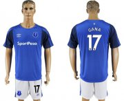 Wholesale Cheap Everton #17 Gana Home Soccer Club Jersey