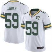 Wholesale Cheap Nike Packers #59 Markus Jones White Men's 100th Season Stitched NFL Vapor Untouchable Limited Jersey