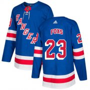 Wholesale Cheap Adidas Rangers #23 Adam Foxs Royal Blue Home Authentic Stitched NHL Jersey