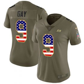 Wholesale Cheap Nike Buccaneers #9 Matt Gay Olive/USA Flag Women\'s Stitched NFL Limited 2017 Salute To Service Jersey