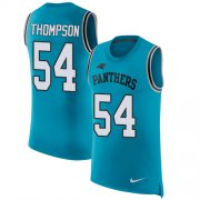 Wholesale Cheap Nike Panthers #54 Shaq Thompson Blue Alternate Men's Stitched NFL Limited Rush Tank Top Jersey