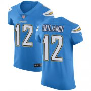 Wholesale Cheap Nike Chargers #12 Travis Benjamin Electric Blue Alternate Men's Stitched NFL Vapor Untouchable Elite Jersey