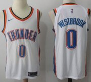 Wholesale Cheap Nike Oklahoma City Thunder #0 Russell Westbrook White Stitched NBA Jersey