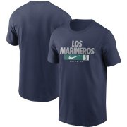Wholesale Cheap Seattle Mariners Nike Local Nickname T-Shirt Navy