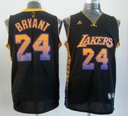 Wholesale Cheap Los Angeles Lakers #24 Kobe Bryant 2012 Vibe Black Fashion Jersey