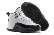 Wholesale Cheap Kids Air Jordan 12 Taxi White/black