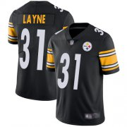 Wholesale Cheap Nike Steelers #31 Justin Layne Black Team Color Men's Stitched NFL Vapor Untouchable Limited Jersey