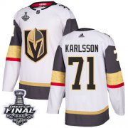 Wholesale Cheap Adidas Golden Knights #71 William Karlsson White Road Authentic 2018 Stanley Cup Final Stitched NHL Jersey