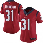 Wholesale Cheap Nike Texans #31 David Johnson Red Alternate Women's Stitched NFL Vapor Untouchable Limited Jersey