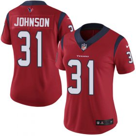 Wholesale Cheap Nike Texans #31 David Johnson Red Alternate Women\'s Stitched NFL Vapor Untouchable Limited Jersey