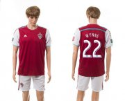 Wholesale Cheap Lorado Rapids #22 Wynne Home Soccer Club Jersey