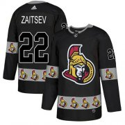 Wholesale Cheap Adidas Senators #22 Nikita Zaitsev Black Authentic Team Logo Fashion Stitched NHL Jersey