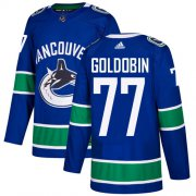 Wholesale Cheap Adidas Canucks #77 Nikolay Goldobin Blue Home Authentic Youth Stitched NHL Jersey