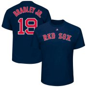 Wholesale Cheap Boston Red Sox #19 Jackie Bradley Jr. Majestic Official Name and Number T-Shirt Navy