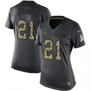 Wholesale Cheap Nike Buccaneers #21 Justin Evans Black Women's Stitched NFL Limited 2016 Salute to Service Jersey