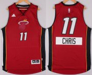 Wholesale Cheap Miami Heat #11 Chris Andersen Revolution 30 Swingman 2014 Christmas Day Red Jersey
