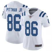 Wholesale Cheap Nike Colts #86 Michael Pittman Jr. White Women's Stitched NFL Vapor Untouchable Limited Jersey