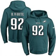 Wholesale Cheap Nike Eagles #92 Reggie White Midnight Green Name & Number Pullover NFL Hoodie