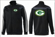 Wholesale Cheap NFL Green Bay Packers Team Logo Jacket Black_3