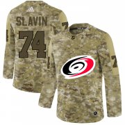 Wholesale Cheap Adidas Hurricanes #74 Jaccob Slavin Camo Authentic Stitched NHL Jersey