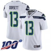 Wholesale Cheap Nike Seahawks #13 Phillip Dorsett White Men's Stitched NFL 100th Season Vapor Untouchable Limited Jersey