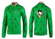 Wholesale Cheap NHL Pittsburgh Penguins Zip Jackets Green-2