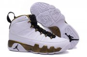 Wholesale Cheap Air Jordan 9 Statue Shoes White/Gold