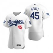 Wholesale Cheap Los Angeles Dodgers #45 Matt Beaty White 2020 World Series Champions Jersey